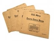 米軍実物 US NAVY フォルダー ENLISTED SERVICE RECORD FOLDER 4枚セット